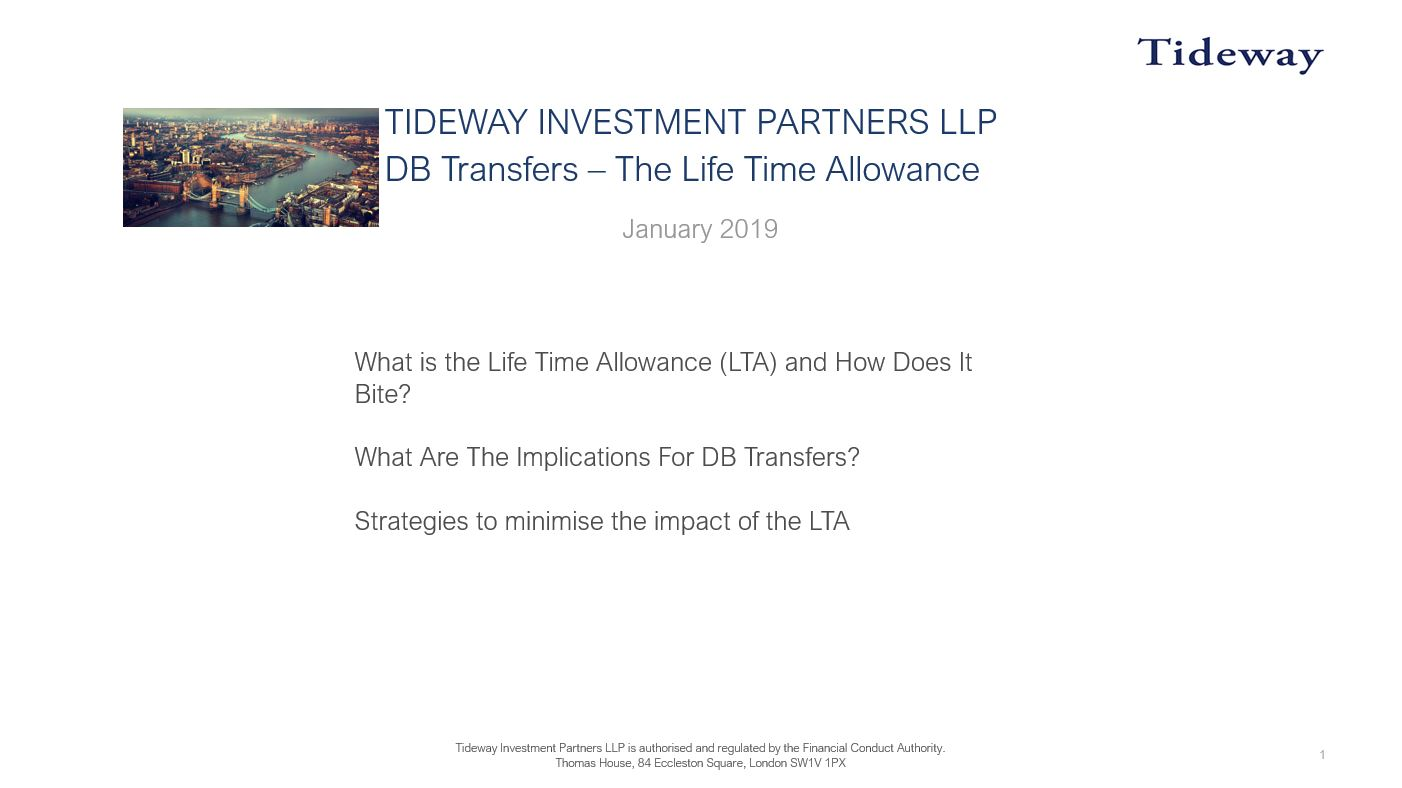 7: The Lifetime Allowance