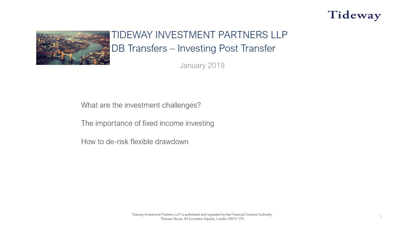 5. Investing Post Transfer