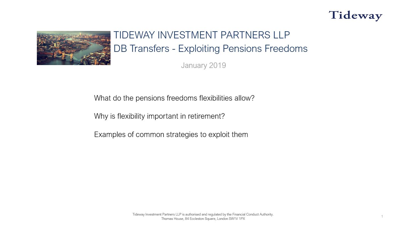 2. Exploiting Pensions Freedoms