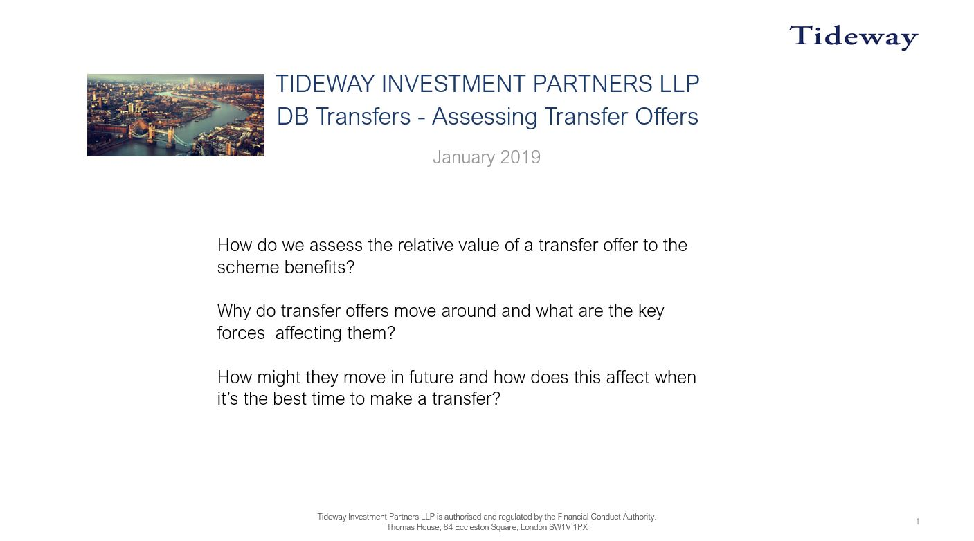 1. Assessing Transfer Values