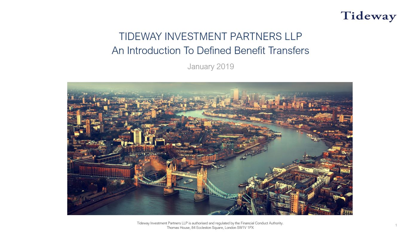 Introduction to Defined Benefit Transfers